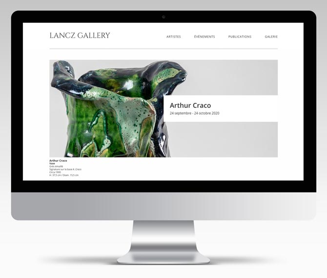 Lancz Gallery website