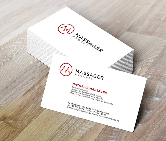 Massager Avocats - cartes de visite